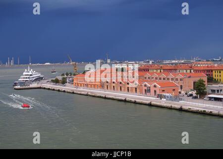 San Basilio Cruise Terminal, Venice, Italy - Stock Image
