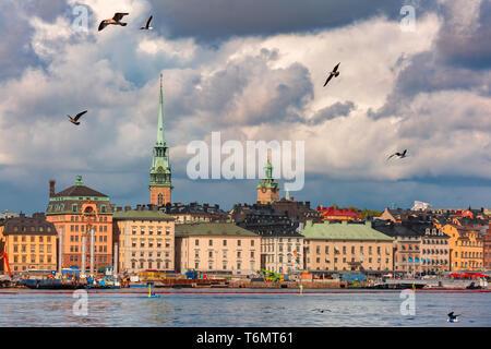 Gamla Stan in Stockholm, Sweden - Stock Image
