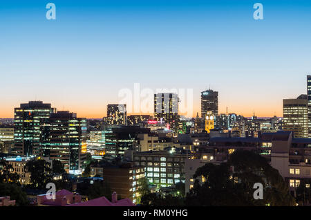Night architecture in Sydney. - Stock Image