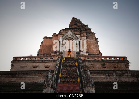 Wat Chedi Luang temple, Chiang Mai, Thailand - Stock Image