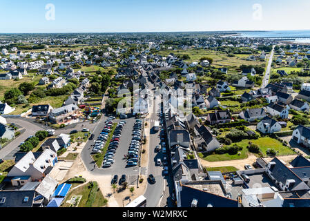 Aerial view of Point Penmarch in Brittany, France - Stock Image