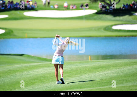 Rancho Mirage, California, USA. 2nd Apr, 2017. Charley Hull on the 6th hole during the final round of the ANA Inspiration - Stock Image