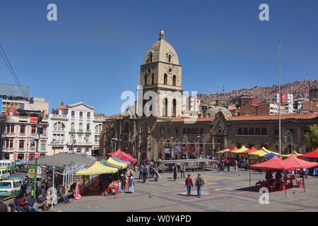 The famous Basílica de San Francisco church in La Paz, Bolivia - Stock Image