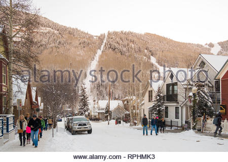 South Fir Street, Telluride, San Miguel County, Colorado, USA - Stock Image