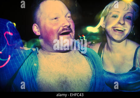 Northern bloke on a night out on The Big Market in Newcastle. - Stock Image