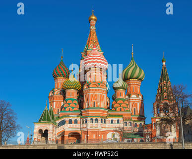 St. Basil's cathedral, Moscow, Russia - Stock Image