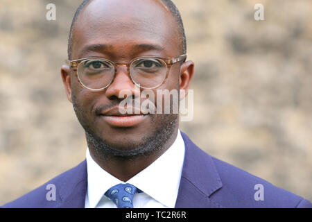 London, UK, 04th June 2019. Sam Gyimah, Conservative MP and Tory Leadership candidate, former Education Secretary. Gyimah threw his hat in the ring for the Tory leadership on June 02nd, becoming the first candidate to back a second referendum on Brexit. Credit: Imageplotter/Alamy Live News - Stock Image