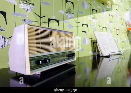 Philips kitchen radio from the 1950s/1960s - Stock Image