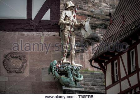 The Nuremberg Castle is the landmark of the city of Nuremberg - Stock Image