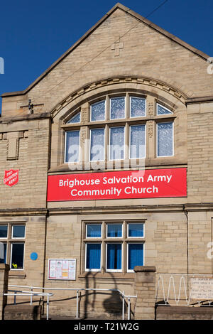 Brighouse Salvation Army Community Church, Brighouse, West Yorkshire - Stock Image