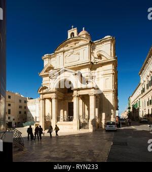 Saint Catherine's church Valletta, Malta - Stock Image