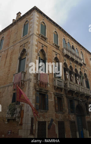 The corner of a building in Venice Italy - Stock Image
