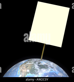 globe with sign - Stock Image