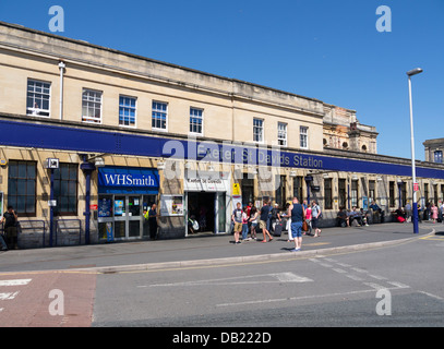 Exeter St. David's Railway Station building entrance exterior. - Stock Image