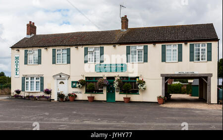 North Kyme, Sleaford, Lincolnshire, England, UK - The Old Coach House Motel - Front View - Stock Image