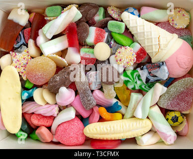 Mixed sweets - Stock Image