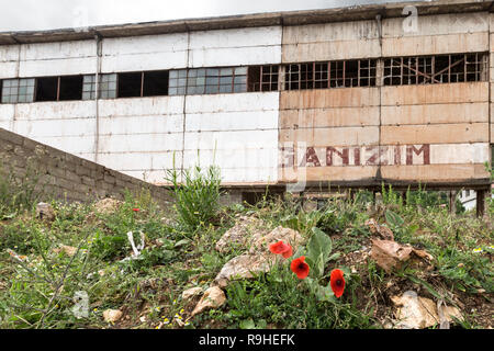 Derelict Steel and Nickel factory Albania - Stock Image
