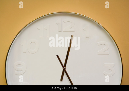 Close-up of a clock - Stock Image
