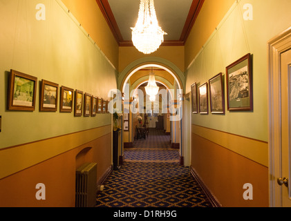 KATOOMBA, Australia - A corridor inside the historic Carrington Hotel in Katoomba in the Blue Mountains of New South - Stock Image