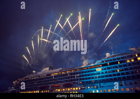 Fireworks ferry - Stock Image