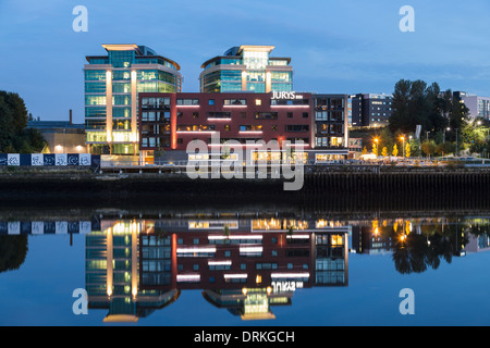 Office buildings Gateshead waterfront, Tyne and Wear, England - Stock Image
