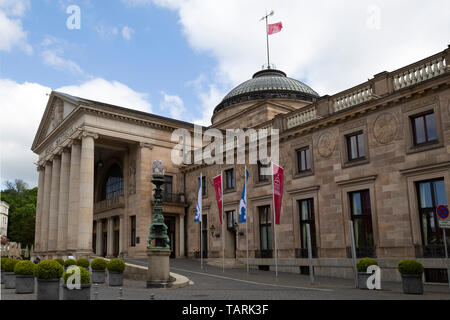 The Kurhaus in Wiesbaden, the state capital of Hesse, Germany. - Stock Image