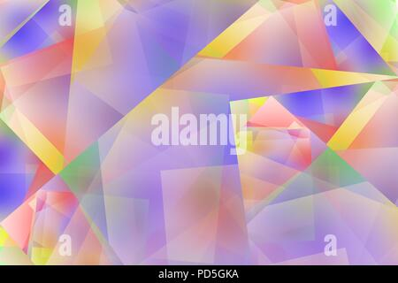 Pale coloured abstract or texture of rainbow colors - Stock Image