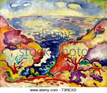 Seascape Estaque Georges Braque born in 1882 –  French painter and sculptor. (Fauvism - Cubism) France - Stock Image