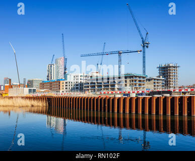 Sugar House Island redevelopment, Stratford, Newham, London. - Stock Image