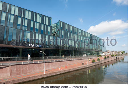 Delft The Netherlands Delft The Netherlands New station - Stock Image