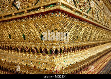 Golden Ornament Church at Wat Arun Temple. - Stock Image