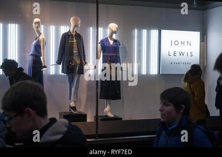Shop window display at John Lewis in Oxford Street, London. - Stock Image