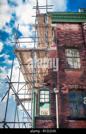 Victorian house undergoing major reconstruction. - Stock Image