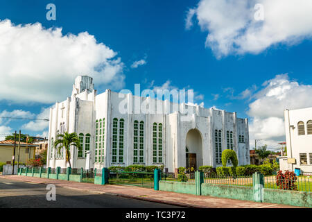 Wesley Methodist Church in Belize City - Stock Image