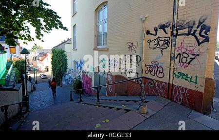 Graffiti, Kleine Weigasse 12, 55116 Mainz, Rhineland-Palatinate, Germany, Europe - Stock Image