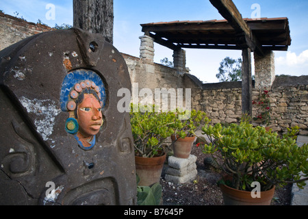 An ART PIECE in a gallery in the ghost town of MINERAL DE POZOS a small artist colony & tourist destination - Stock Image