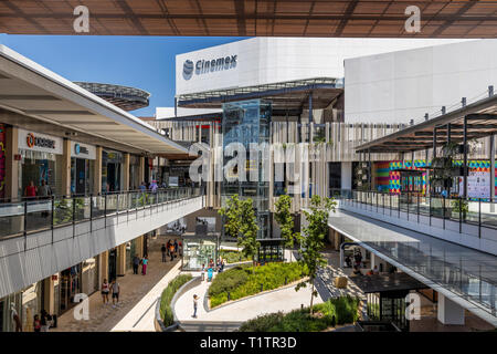 Paseo Queretaro is a modern 'malltertainment' shopping mall and entertainment district located in Queretaro, Mexico - Stock Image