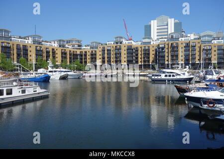 St Katherine's Dock, London, UK - Stock Image