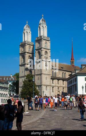 Switzerland Zurich Cathedral. - Stock Image