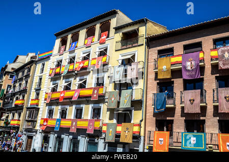 Toledo is a municipality located in central Spain, 70km south of Madrid. It is the capital of the province - Stock Image