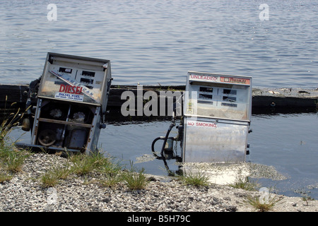 Examples of the destruction left in the wake of Hurricane Katrina - Stock Image