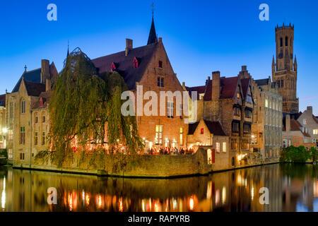 Rozenhoedkaai (Quay of the Rosary) Bruges, Flanders, Belgium - Stock Image