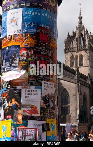 Edinburgh fridge festival adverts on 'royal mile' - Stock Image
