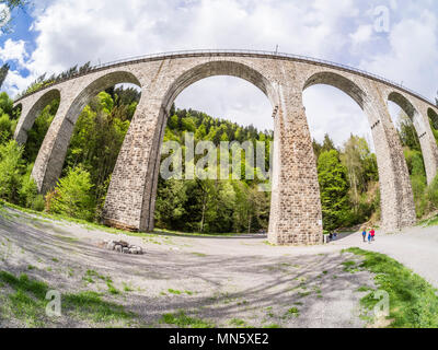 Viaduct Ravennabridge, near Hinterzarten, Black Forest, Ravenna gorge, Baden-Württemberg, Germany - Stock Image