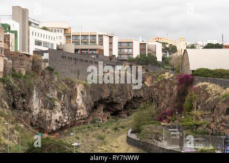 The Barranco de Santos, a gorge running through the centre of Santa Cruz de Tenerife, Tenerife, Canary Islands - Stock Image