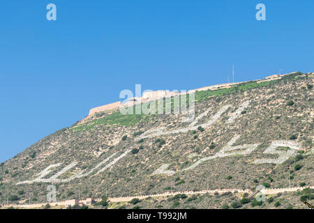 Looking up at the Oufella ruins, Agadir, Morocco - Stock Image