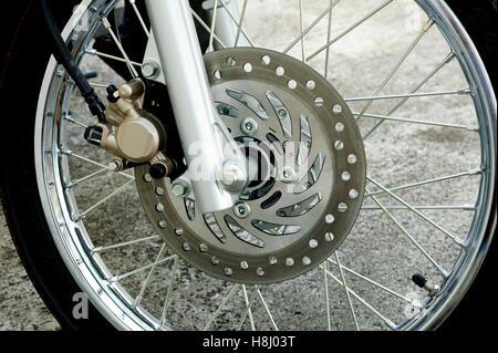 detail of motorcycle wheel - Stock Image
