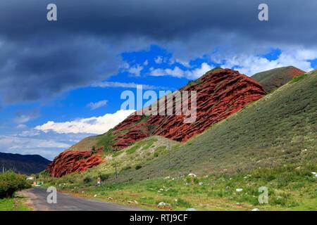 Jeti Oguz Rocks, near Karakol, Issyk Kul oblast, Kyrgyzstan - Stock Image