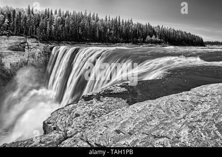 Hay River at Alexandra Falls Twin Falls Gorge Territorial Park Northwest Territories Canada - Stock Image