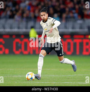 Optus Stadium, Perth, Western Australia. 13th July, 201913th July 2019, Optus Stadium, Perth, Western Australia; Pre-season friendly football, Perth Glory versus Manchester United; Chris Smalling of Manchester United runs with the ball Credit: Action Plus Sports Images/Alamy Live News - Stock Image